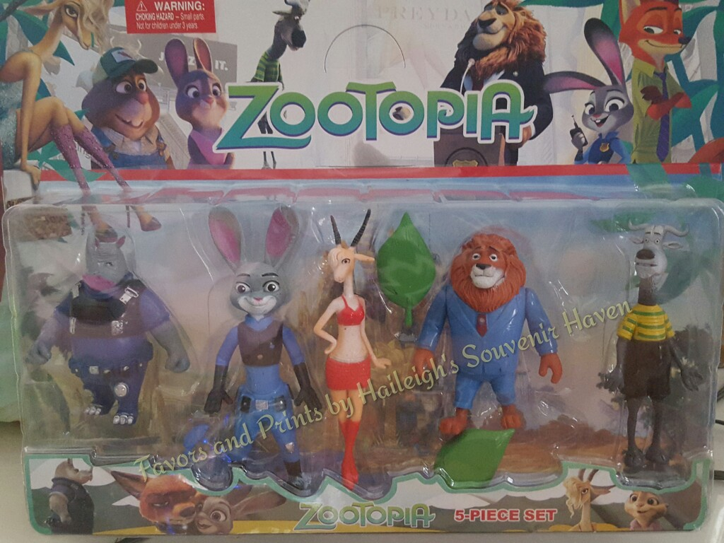 Cake Topper Toy Set Zootopia