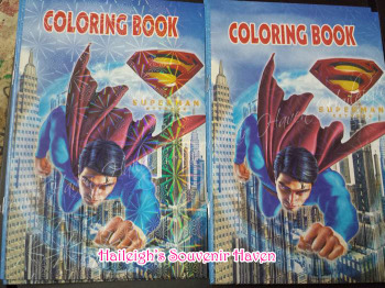 COLORING BOOK (SMALL, 12s): SUPERMAN
