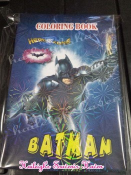 COLORING BOOK (SMALL, 12s): BATMAN