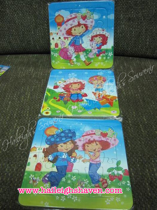PUZZLE SET (3-IN-1): STRAWBERRY SHORTCAKE