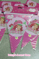 FLAG BANNERS / BANDERITAS: STRAWBERRY SHORTCAKE
