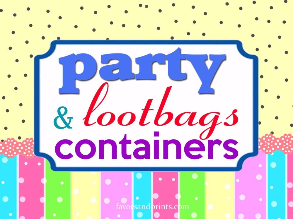 PARTY BAGS & CONTAINERS