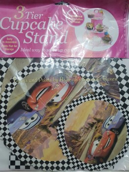 CUPCAKE STAND [3 layers]: DISNEY CARS