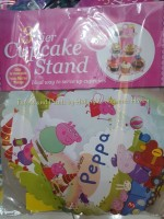 CUPCAKE STAND [3 layers]: PEPPA PIG