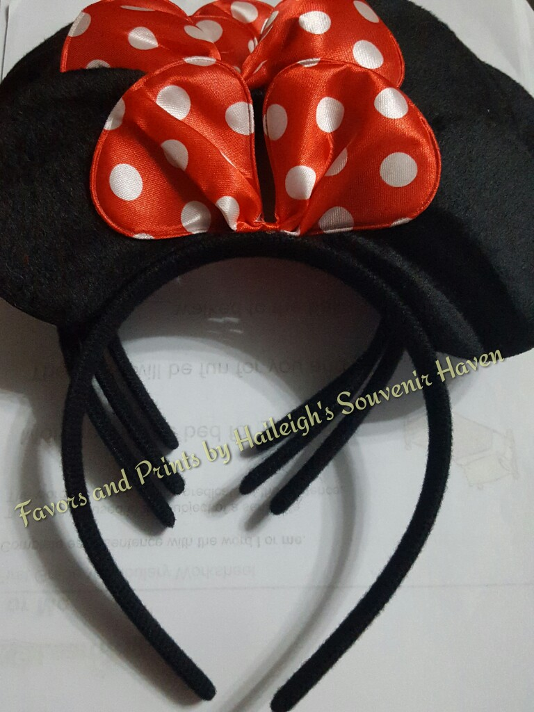 HEADBAND: Minnie Mouse Ears (China)