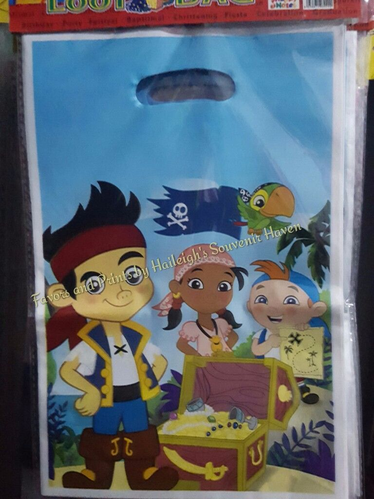 LOOT BAGS (SMALL): JAKE AND THE NEVERLAND PIRATES