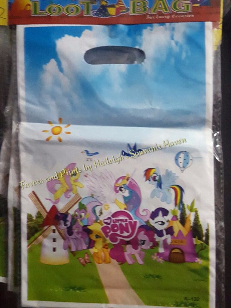 LOOT BAGS (SMALL): LITTLE PONY