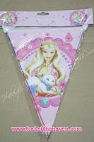 FLAG BANNER / BANDERITAS: BARBIE