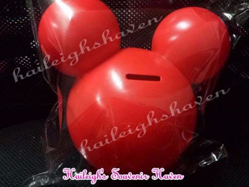COIN BANK (HARD PLASTIC): MICKEY MOUSE HEAD