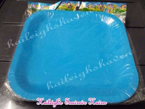 PAPER PLATES [10s, SOLID COLOR]: LIGHT BLUE  (SQUARE)