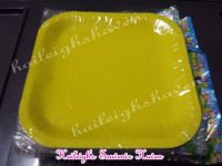 PAPER PLATES [10s, SOLID COLOR]: YELLOW  (SQUARE)
