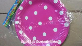 PAPER PLATES [10s]: POLKA PINK