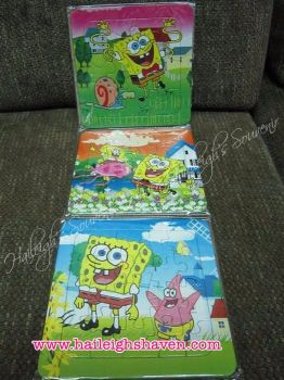 PUZZLE SET(3-IN-1): SPONGEBOB