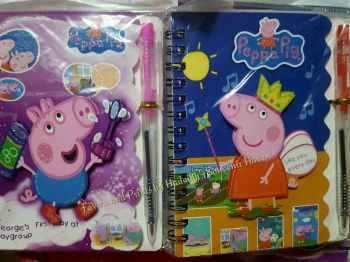 MINI-NOTEBOOK WITH PEN: PEPPA PIG