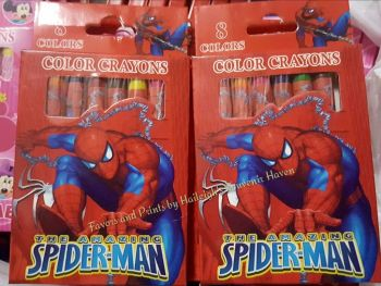 CRAYONS (8s): SPIDERMAN
