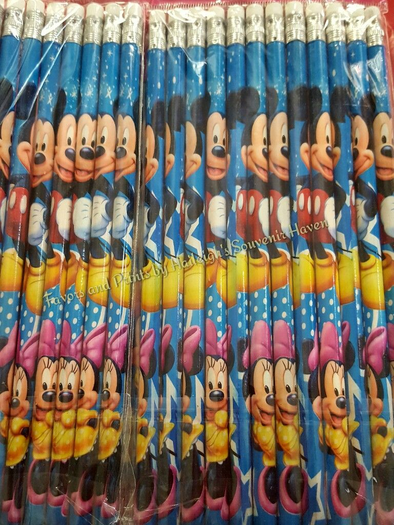PACK OF PENCILS [12S]: MICKEY AND MINNIE MOUSE