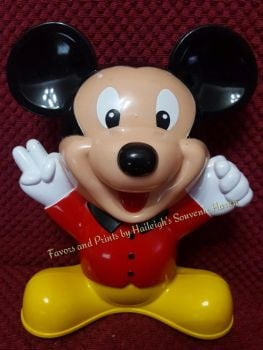 COIN BANK (HARD PLASTIC, DESIGN 3): MICKEY MOUSE