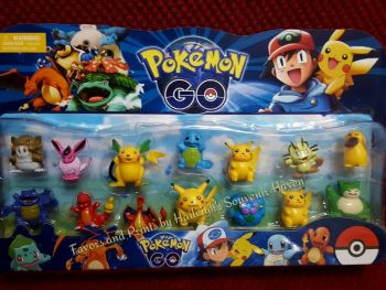 CAKE TOPPER TOY SET - POKEMON SET #1