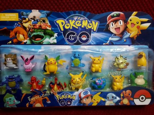 CAKE TOPPER TOY SET - POKEMON