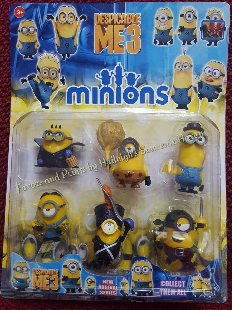 CAKE TOPPER TOY SET - MINIONS SET #3
