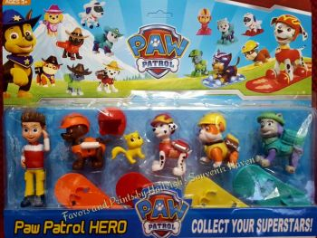 CAKE TOPPER TOY SET - PAW PATROL SET #1 (W/ RYDER)