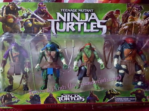 Teenage Mutant Ninja Turtles Cake Topper Toy Set