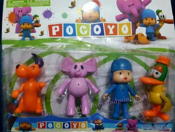 CAKE TOPPER TOY SET - POCOYO AND FRIENDS