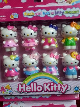 CAKE TOPPER TOY SET - HELLO KITTY