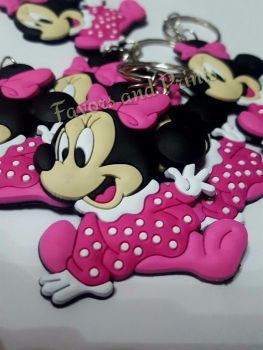 KEY CHAIN (RUBBER): MINNIE MOUSE