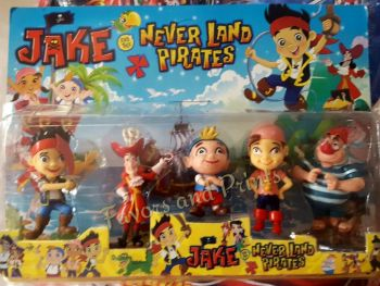 CAKE TOPPER TOY SET - JAKE AND THE NEVERLAND PIRATES