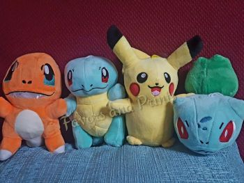 STUFFED TOY SET [4s] -  POKEMON