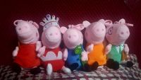 Peppa Pig 5-PC Family Plush Key Chain Set