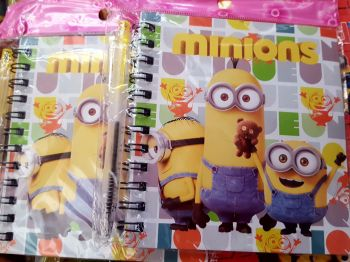 MINI-NOTEBOOK W/ PEN: MINIONS