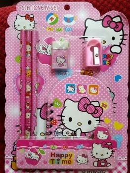 STATIONERY SET (DESIGN 2): HELLO KITTY