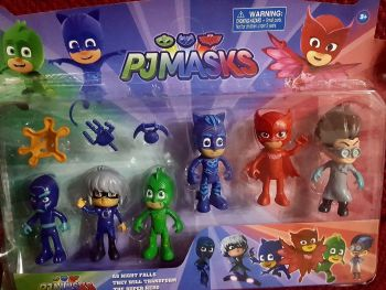 CAKE TOPPER TOY SET - PJ MASKS
