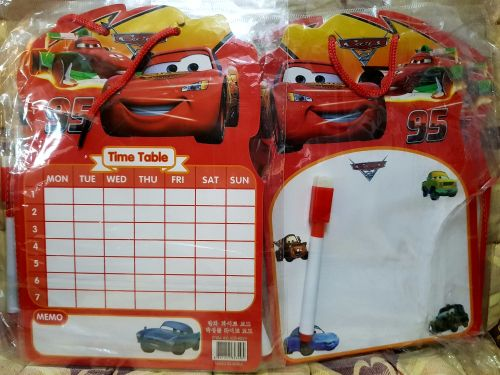 MINI-WHITEBOARD (12s): DISNEY CARS
