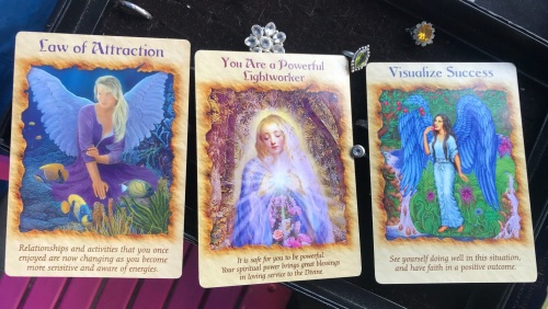 3 card reading- opportunity and success and crystal healing bag