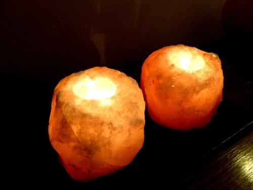 Himalayan rock salt T Light candle holder