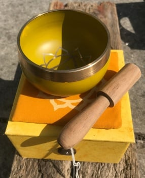 Singing bowl - Yellow solar plexus chakra
