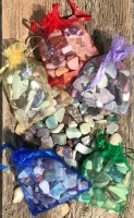 Tumbled stones - mixed bag of crystals