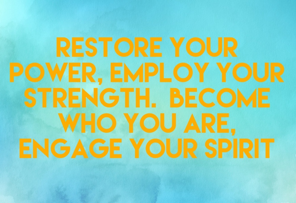 Restore your power