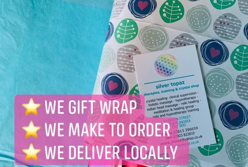 ⭐️ Did you know that: We can gift wrap for you We can make gift boxes up to order We can deliver to you locally And if on the odd occasion the shop is closed when you visit, you can still get hold of us within a short time via phone call, message or email ⭐️
