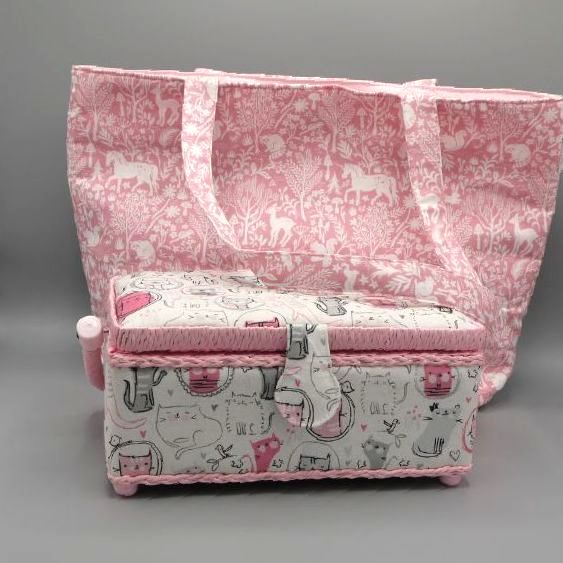 SEWING BOXES AND KNITTING BAGS