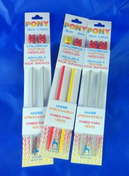 CHILDRENS KNITTING NEEDLES 18 CM