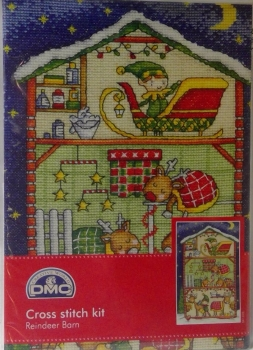 REINDEER BARN COUNTED CROSS STITCH KIT