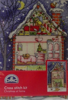 CHRISTMAS AT HOME DMC CROSSTITCH KIT  x