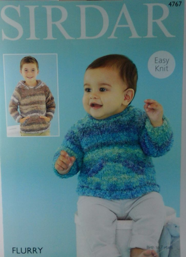 SIRDAR BABIES AND BOYS SWEATERS IN FLURRY 4767