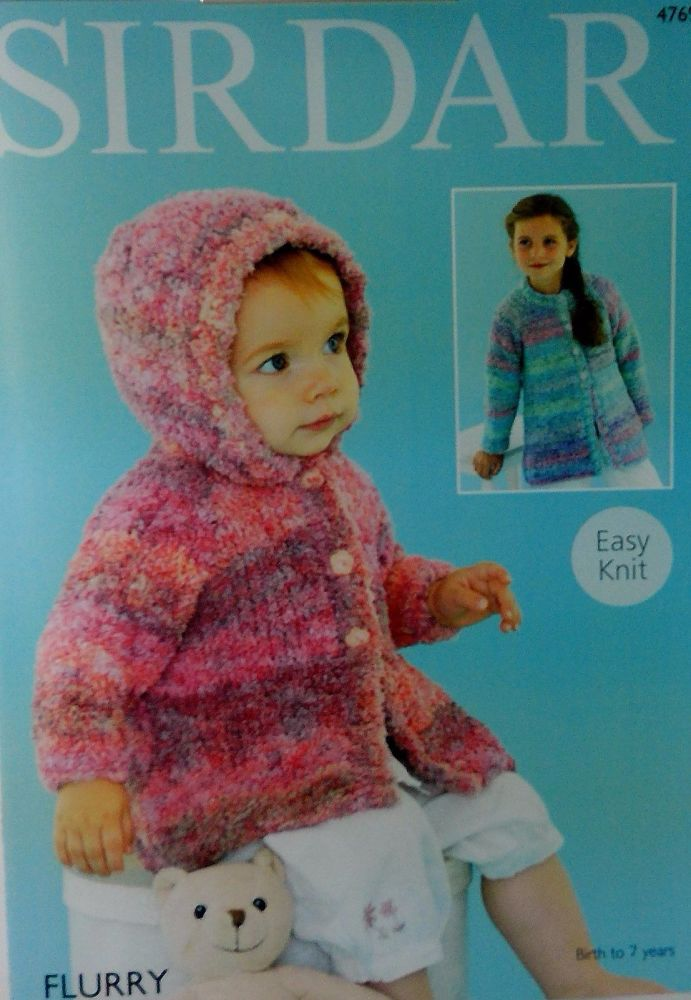 BABIES AND GIRLS COATS IN SIRDAR FLURRY 4769