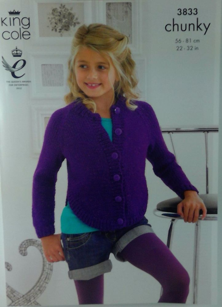 KING COLE GIRLS SWEATER AND CARDIGAN 3833