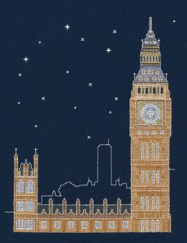 LONDON BY NIGHT COUNTED CROSS STITCH KIT